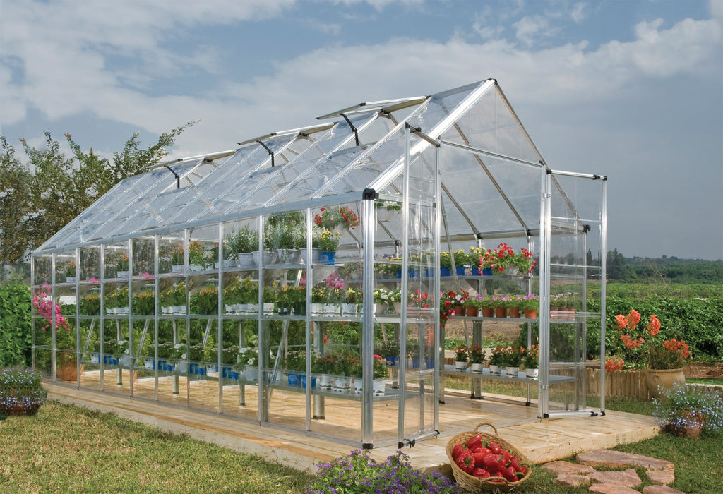 Palram Snap & Grow Greenhouses, Silver Size - 8' x 20':Tuff Nest