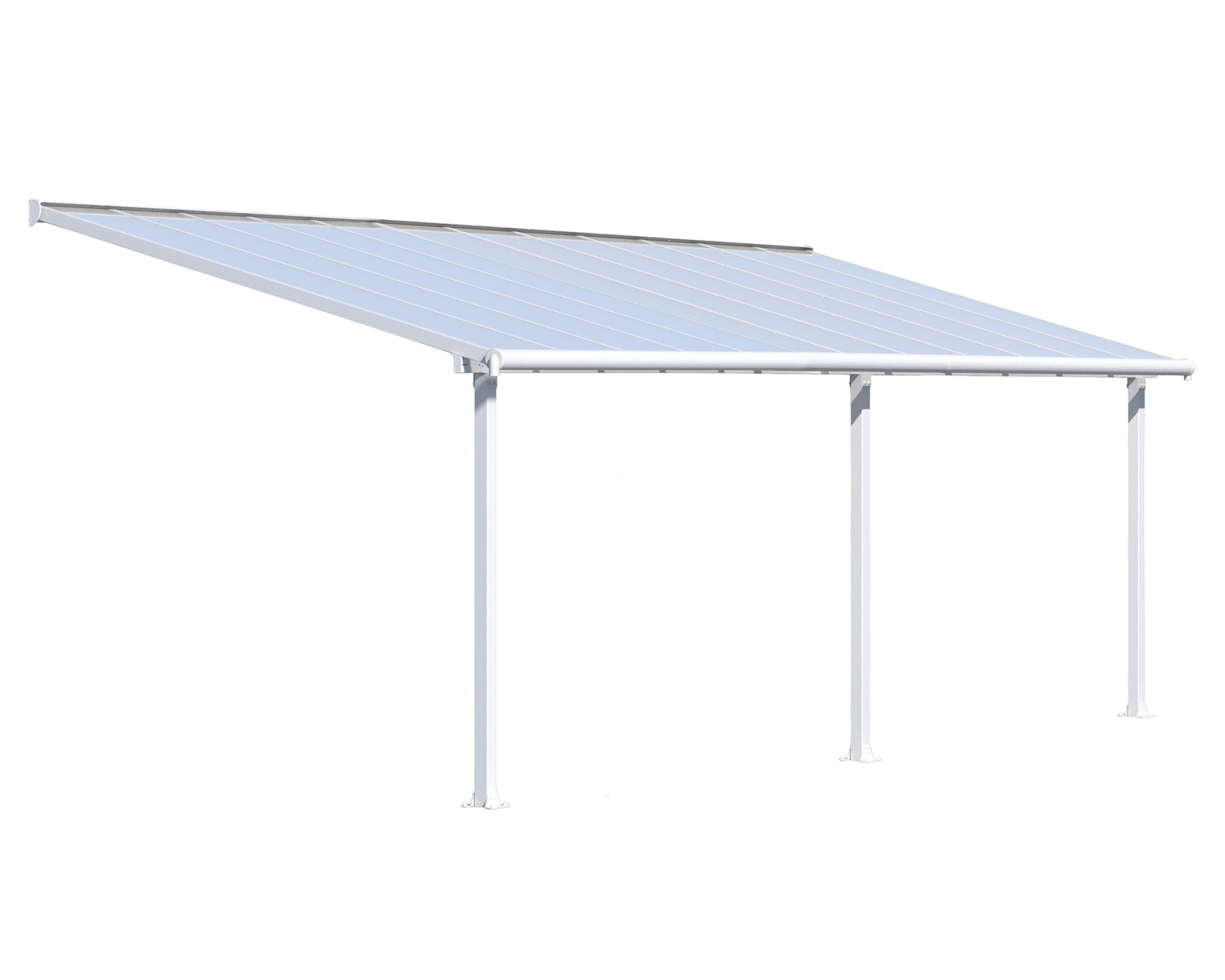 Palram Olympia Patio Covers, White Size - 10' x 24':Tuff Nest