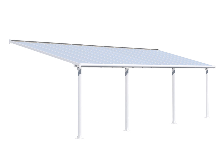 Palram Olympia Patio Covers, White Size - 10' x 28':Tuff Nest