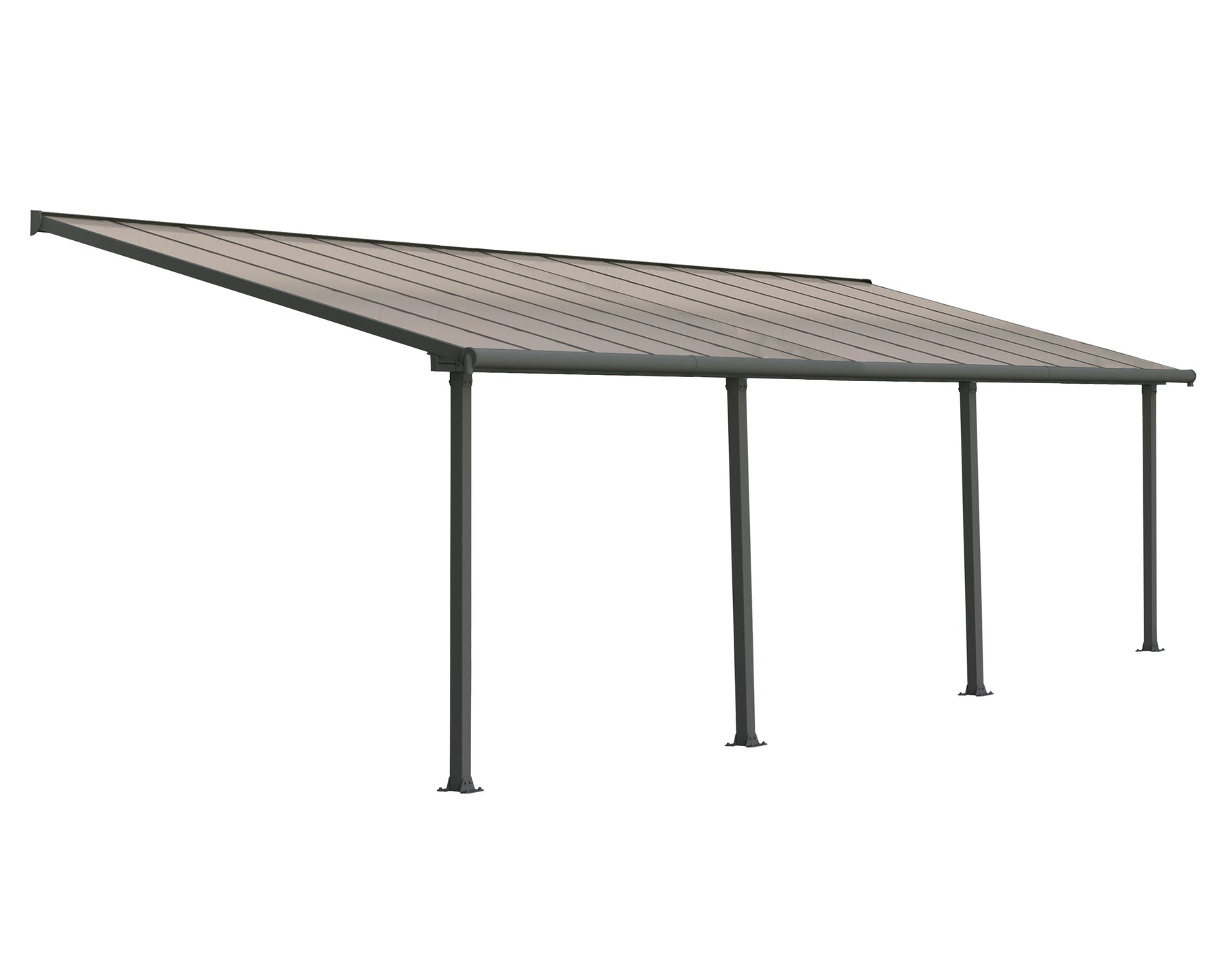 Palram Olympia Patio Covers, Gray/Bronze Size - 10' x 28':Tuff Nest