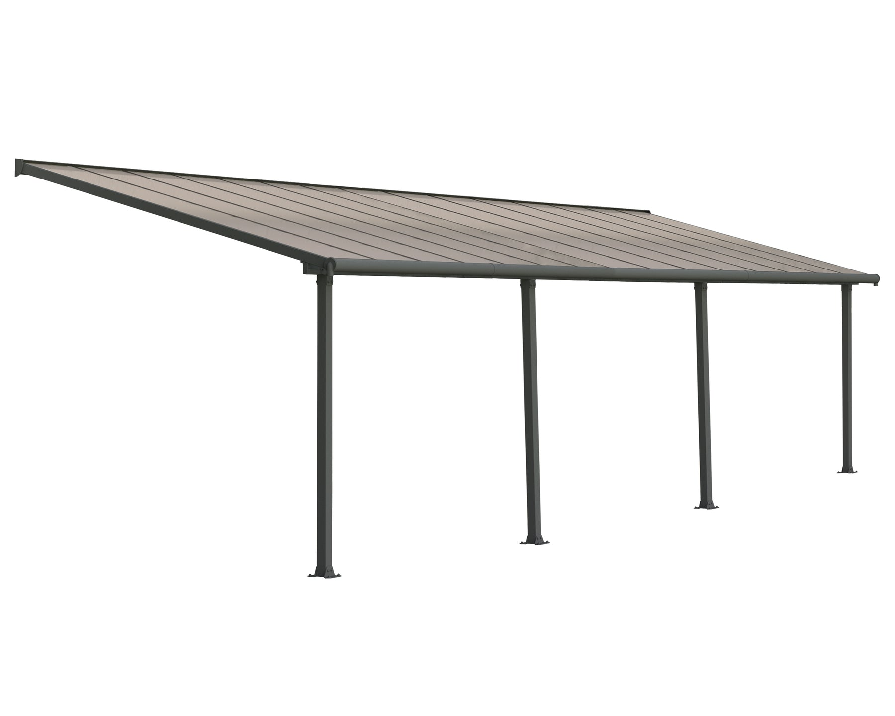 Palram Olympia Patio Covers, Gray/Bronze Size - 10' x 30':Tuff Nest