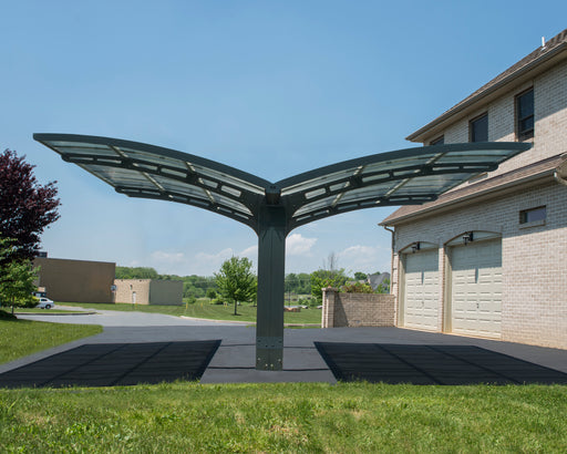 Palram Carports & Gazebos Carports, Arizona Wave Dbl Carport Wing-Style:Tuff Nest
