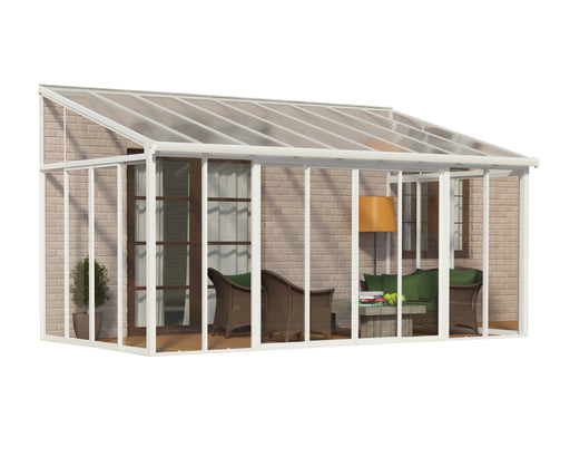 Palram SanRemo Add-a-Room, Patio Enclosure - White Size - 10' x 18':Tuff Nest