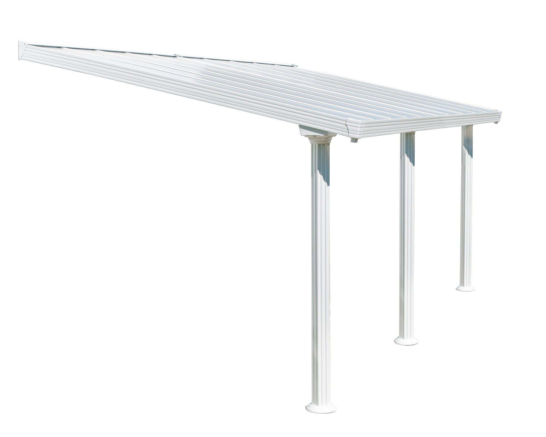 Palram Feria Patio Covers - White Size - 10' x 20':Tuff Nest