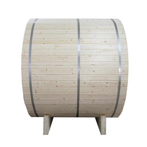 Aleko® Outdoor and Indoor White Pine Barrel Sauna - 4 Person - 4.5 kW ETL Certified Heater:Tuff Nest