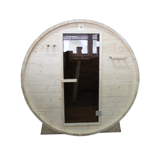 Aleko® Outdoor or Indoor White Pine Wet Dry Barrel Sauna - 6 kW ETL Certified Heater - 6 Person:Tuff Nest