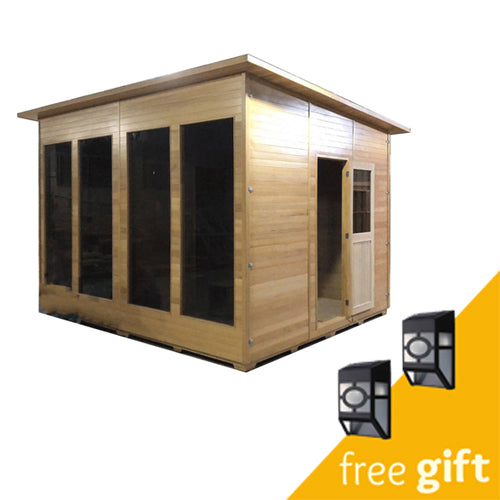 Aleko® Canadian Hemlock Outdoor Studio Home-Cabin and Clubhouse:Tuff Nest