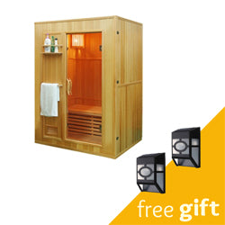 Aleko® Canadian Hemlock Indoor Wet Dry Sauna - 3 kW ETL Certified Heater - 3 Person:Tuff Nest