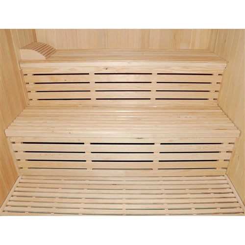 Aleko® Canadian Hemlock Indoor Wet Dry Sauna - 4.5KW ETL Certified Heater - 4 Person:Tuff Nest