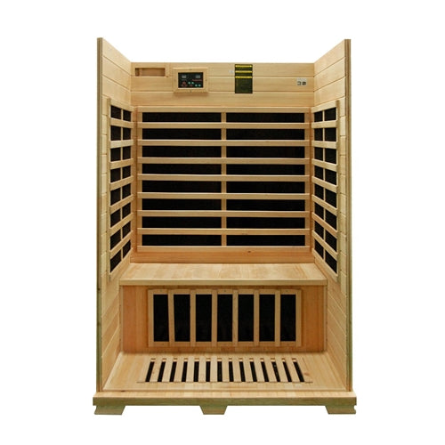Aleko® Canadian Hemlock Indoor Dry Infrared Sauna - 8 Carbon Fiber Heater - 2 Person:Tuff Nest