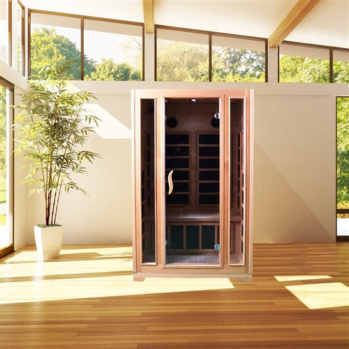 Aleko® Canadian Hemlock Indoor Dry Infrared Sauna - ETL Approved - 2 Person:Tuff Nest
