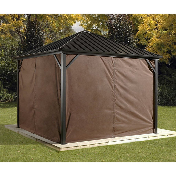Sojag™ Dakota Hard Top Sun Shelter With Galvanized Steel Roof & Nylon Screen:Tuff Nest