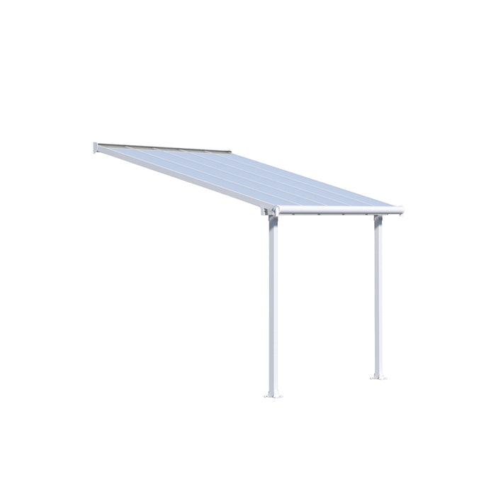 Palram Olympia 10' x 10' Patio Cover - White/White:Tuff Nest