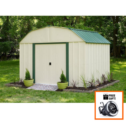 Arrow® Sheridan 10x8 Vinyl Coated Steel Storage Shed With Sliding Doors:Tuff Nest