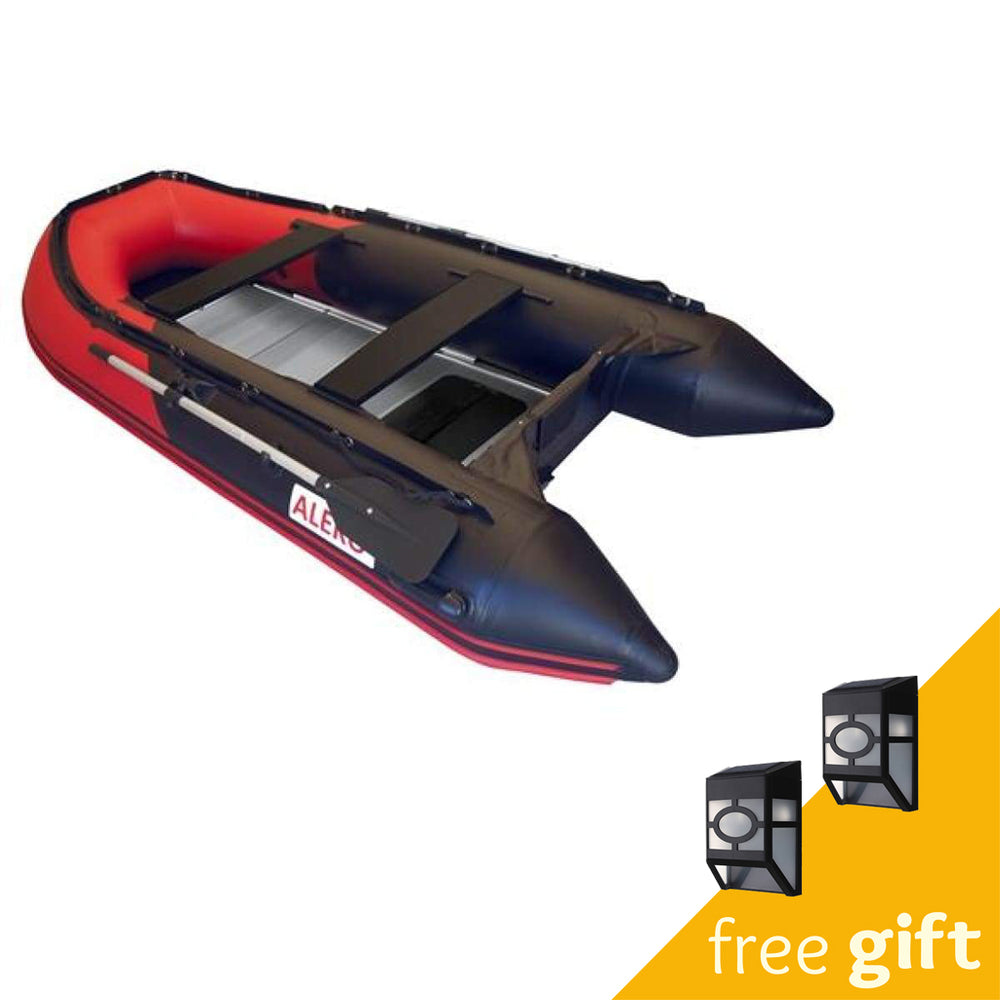 Aleko® Inflatable Boat with Aluminum Floor - 12.5 ft - Red and Black:Tuff Nest