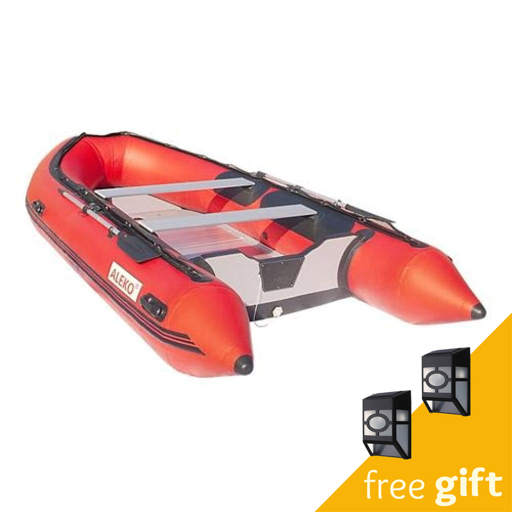Aleko® Inflatable Boat with Aluminum Floor - 13.8 ft - Red:Tuff Nest