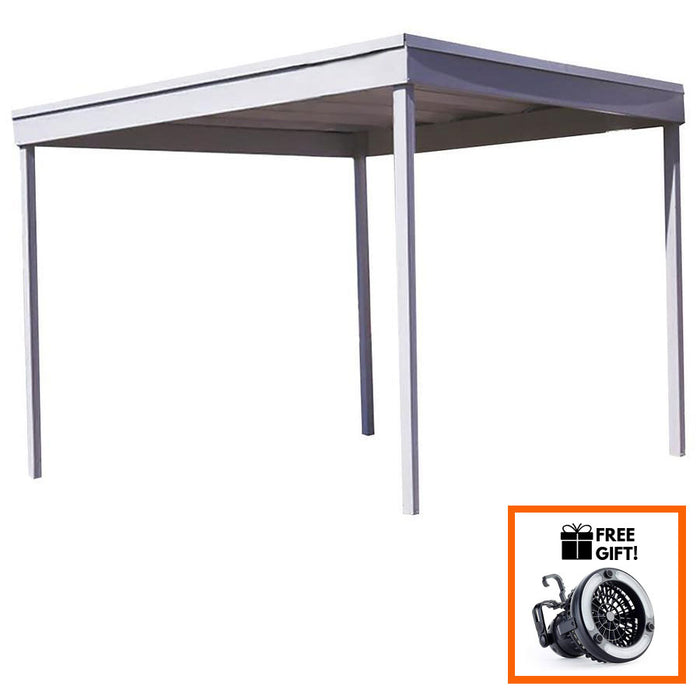 Tuff Nest, Arrow® Freestanding Hot Dipped Galvanized Steel Carport/Patio Cover, {variant_title]