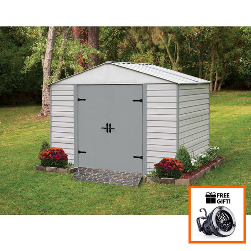 Arrow® Viking® 10'x7' High Gable Steel Storage Shed With Swing Doors:Tuff Nest