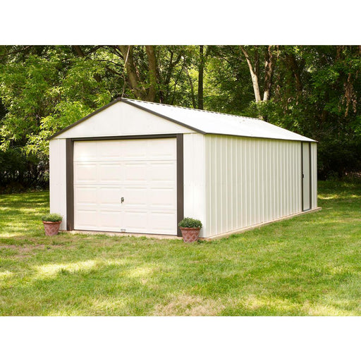 "Tuff Nest, Murryhill, Vinyl Coated Steel, Coffee / Almond, High Gable, 73.8"" Wall Height, Roll-up Garage Door, {variant_title]"