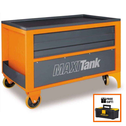 Beta Tools MaxiTank Tool Storage Mobile Workbench with fluid collection pan & hydraulic lift C30S:Tuff Nest