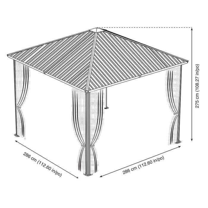 Sojag™ Dakota Sun Shelter With Galvanized Steel Roof and Nylon Screen:Tuff Nest