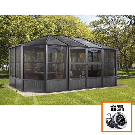 Tuff Nest, Sojag™ Charleston Aluminum Octagonal Solarium With Galvanized Steel Roof and Double Doors, {variant_title]
