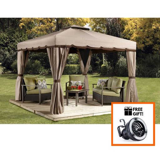 Tuff Nest, Sojag™ Roma Soft Top Gazebo/Sun Shelter With Nylon Netting & Curtains, {variant_title]