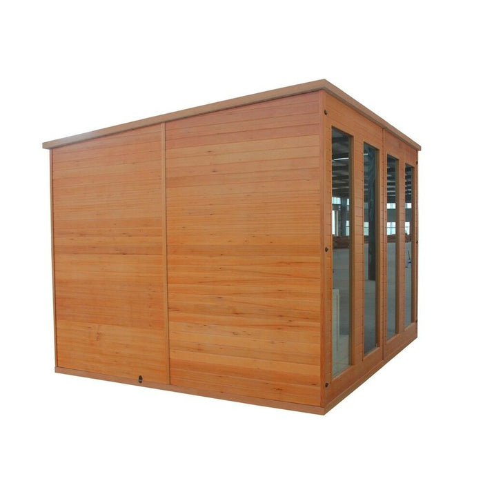 Aleko® Canadian Cedar Outdoor Studio Storage Home-Cabin and Clubhouse:Tuff Nest