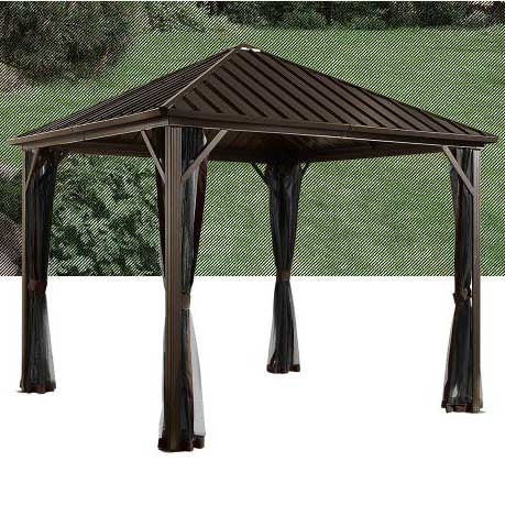 Tuff Nest, Sojag Dakota Sun Shelter with Galvanized steel roof and nylon screen, {variant_title]