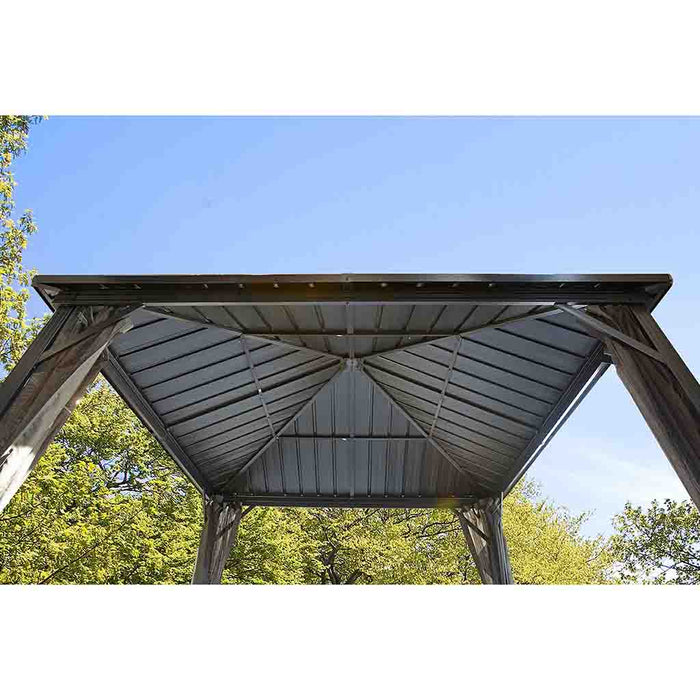 Sojag Dakota Sun Shelter with Galvanized steel roof and nylon screen:Tuff Nest