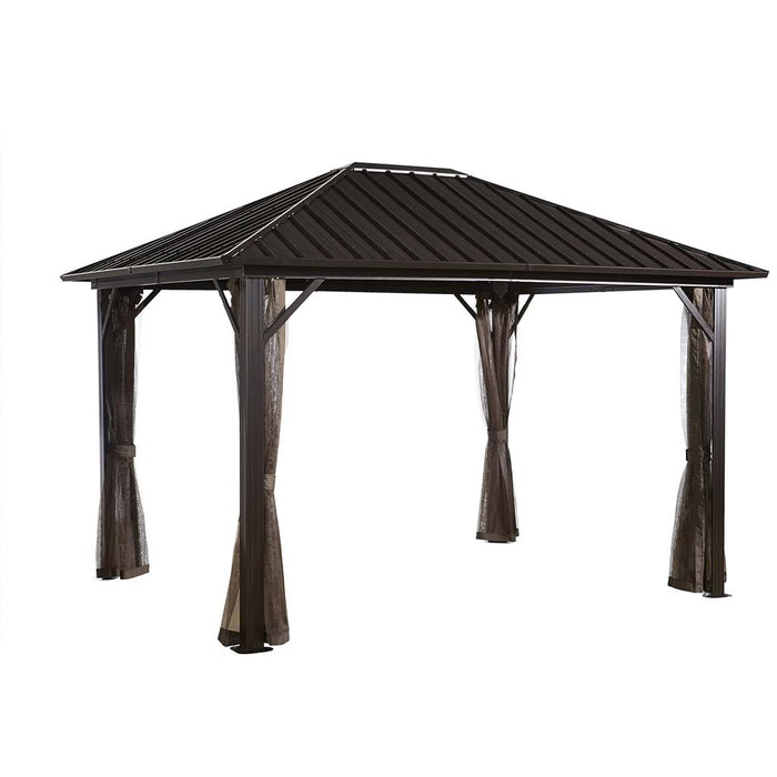 Tuff Nest, Sojag Genova Gazebo With Mesh Screen and galvanized steel roof, {variant_title]