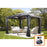 Sojag Meridien Anthracite Sun Shelter and nylon mosquito net:Tuff Nest