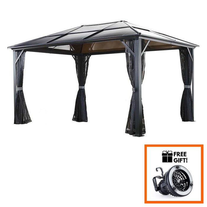 Tuff Nest, Sojag™ Meridien Sun Shelter/ Gazebo With Galvanized Steel Roof & Mosquito Screen, {variant_title]