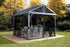 Tuff Nest, Sojag™ Sanibel I Hard Top Gazebo/Sun Shelter With Galvanized Steel Roof & Nylon Mesh Screen, {variant_title]
