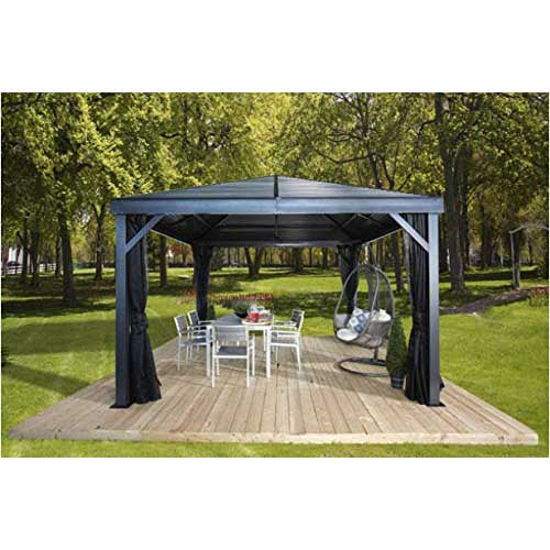Sojag South Beach Gazebo 12 x 12 ft. With Mesh Screen 500-8162769:Tuff Nest