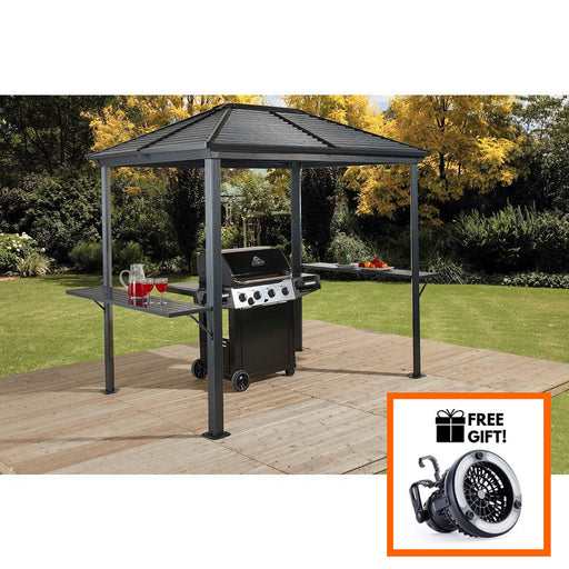 Sojag™ BBQ Ventura #93D - BBQ Shelter 5'x8' With Galvanized Steel Roof:Tuff Nest