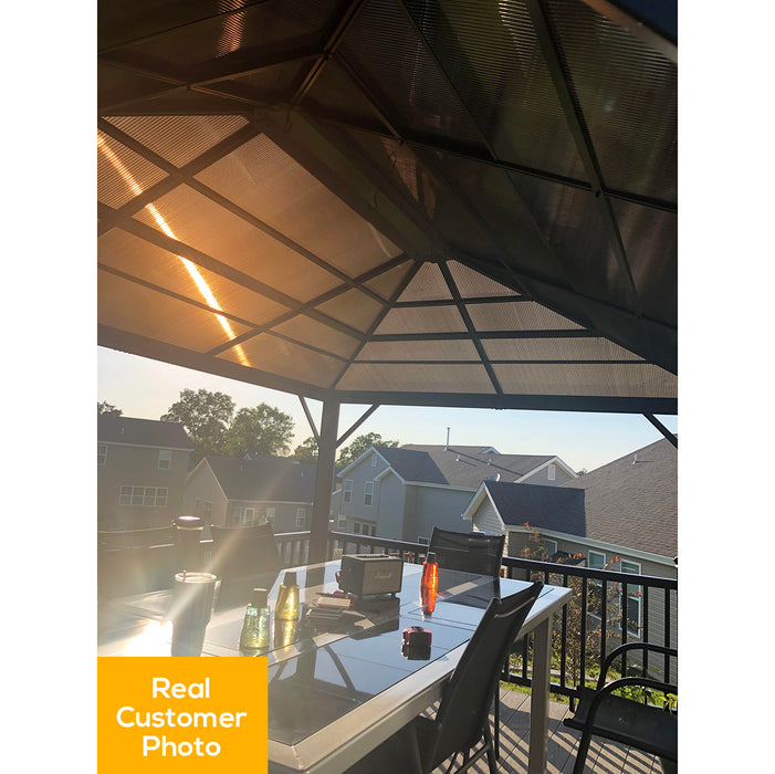 Sojag™ Meridien Hard Top Gazebo/Sun Shelter With Mosquito Screen:Tuff Nest