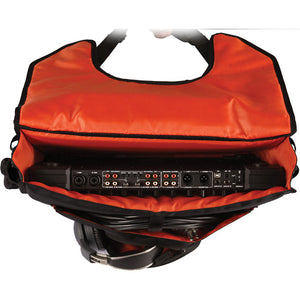 "Gator Cases Club Series DJ Controller Messenger Bag with Bright Orange Interior; Fits 19"" Controllers (G-CLUB CONTROL)"