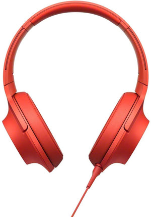 Sony MDR-100AAP Premium Hi-Res Stereo Headphones Wired, (Cinnabar Red)