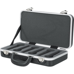 Gator Cases Microphone Hard Case with Foam Drops for Up to (4) Wired Microphones (GM-6-PE) - The Camera Box