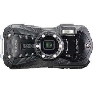 "Ricoh WG-70 Waterproof 16MP Digital Camera, 2.7"" LCD with Optio Floating Wrist Strap and Chest Harness (Black)"