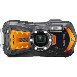 Ricoh WG-70 Waterproof Shockproof 16MP Digital Camera (Orange)