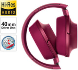 Sony MDR-100AAP Premium Hi-Res Stereo Headphones Wired, (Bordeaux Pink)