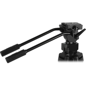 "Redline 7518 Professional Video Tripod with F18 Fluid Head, Plus Redline D3 Universal Folding Tripod Dolly with 3"" Wheels"