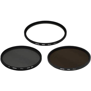 Hoya Digital Filter Kit - 3 Filters & Pouch (UV, CP, ND 0.9) - The Camera Box