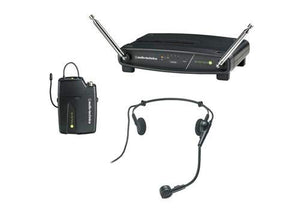 Audio-Technica ATW-901A/H System 9 VHF Wireless Unipak System with a PRO 8HEcW Headworn Microphone - The Camera Box