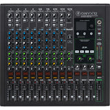 Mackie Onyx12 12-Channel Premium Analog Mixer British Style Perkins 3-Band EQ with Multitrack USB