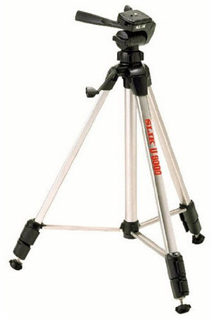 Slik U8000 Tripod with 3-Way Pan / Tilt Head (Quick Release) - Supports 4.40 lb w/ Slik Tripod Bag