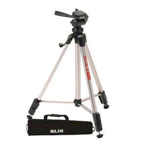 Slik U9000 Tripod with 3-Way Fluid-Effect Head and Built-In Bubble Level With Soft Carrying Case