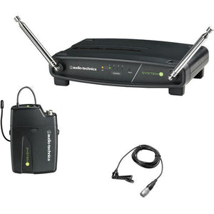 Audio-Technica ATW-901a/L System 9 VHF Wireless Unipak System with an Omnidirectional Lavalier Microphone - The Camera Box